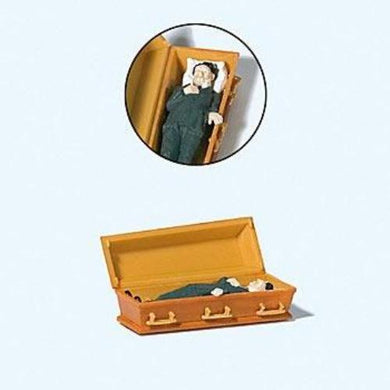 Preiser 1/87 HO Male Vampire in Coffin 29111