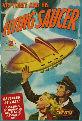 Atlantis Vic Torry and his Flying Saucer UFO 5 inch series with Light 1009