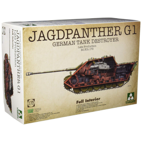 Takom 1/35 German Jagdpanther G1 Late production Full Interior 2106