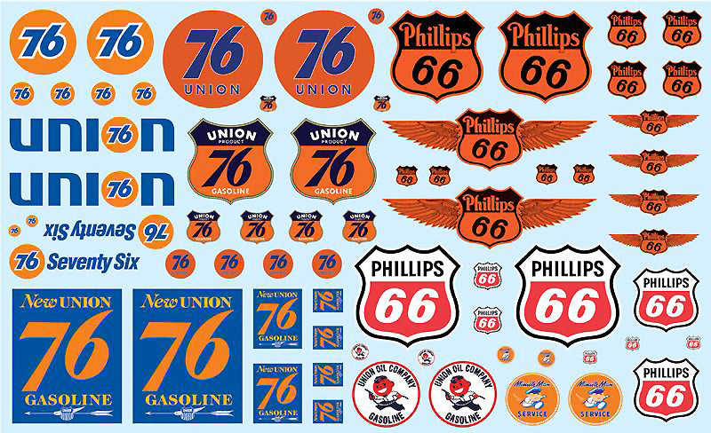 AMT 1/25 Decals  Phillips 66 & Union 76 MKA032