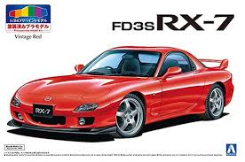 Aoshima 1/24 Mazda RX-7 FD3S Pre-Painted Red Kit 05497