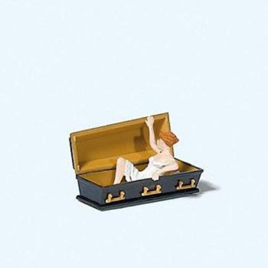 Preiser 1/87 HO Female Vampire In Coffin 29112