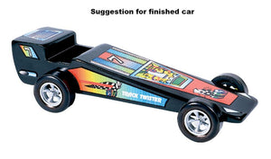 Pinecar P475 Pinewood Derby Track Twister Template Stick-On Decals