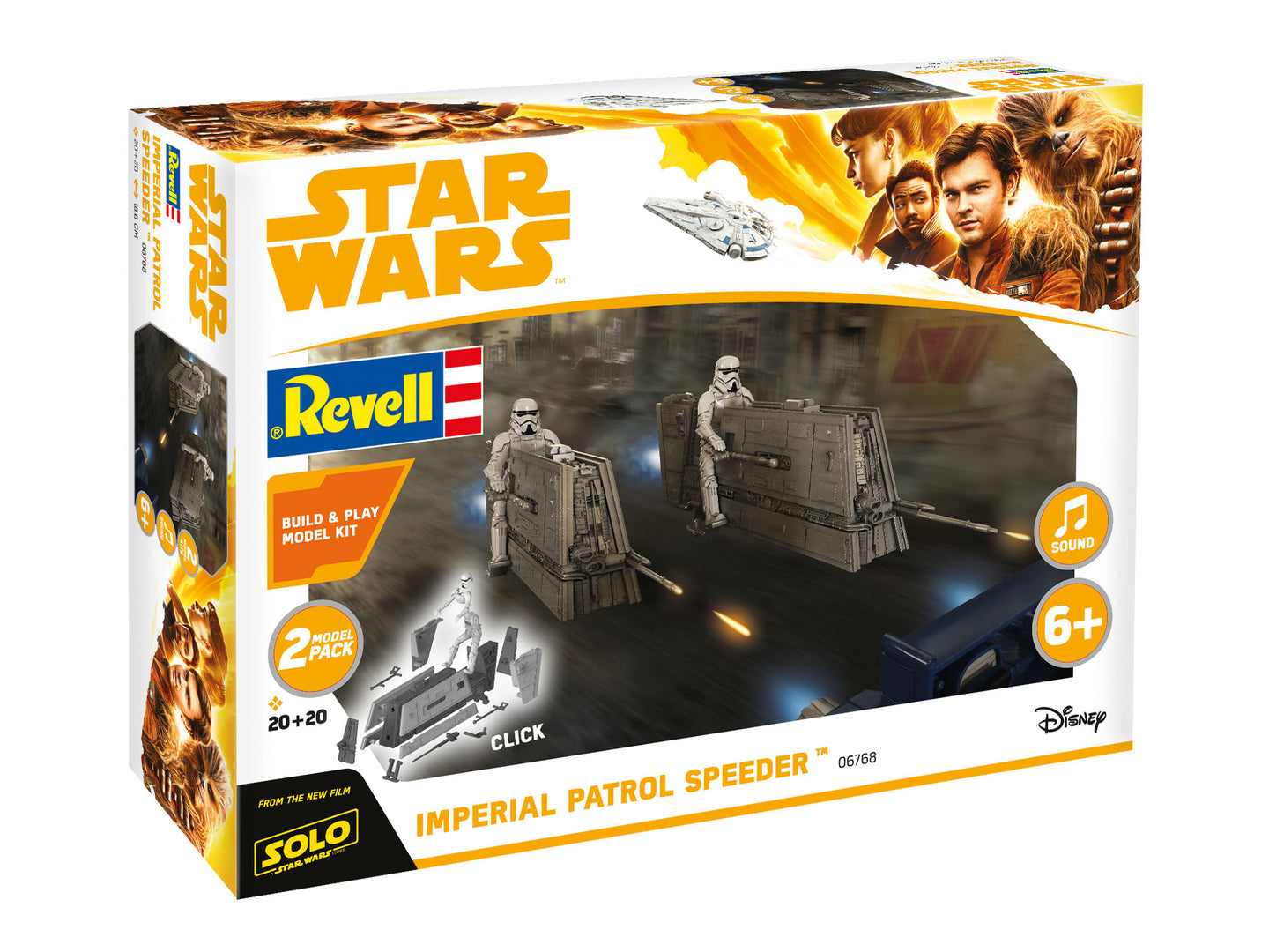 Revell Star Wars Snaptite 1/28 Build & Play Imperial Patrol Speeder 851676