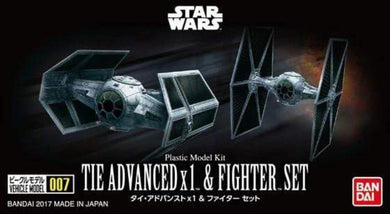 Bandai Star Wars Vehicle Model 007 Tie Advanced & Fighter Set 214502