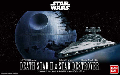 Bandai Star Wars 1/2700000 scale Death Star II & Star Destroyer 230358