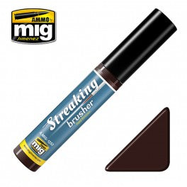 Ammo by Mig AMIG1252 Streaking Brusher Red Brown