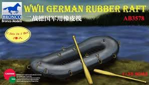 Bronco 1/35 WWII German Rubber Raft 3578
