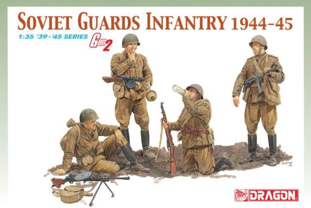 Dragon 1/35 Russian Soviet Guards Infantry 1944-45 6376