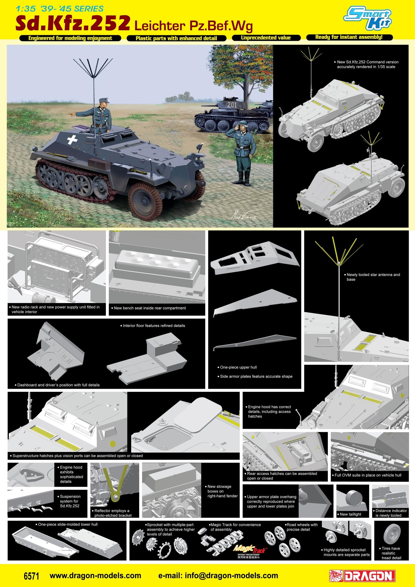 Dragon 1/35 German Sd.Kfz.252 Leichter Pz.Bef.Wg 6571