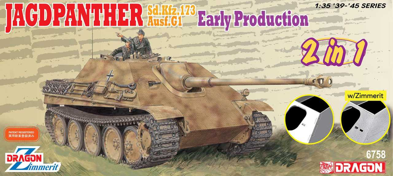 Dragon 1/35 German Jagdpanther sd.kfz.173 Ausf.G1 Early Production 6758