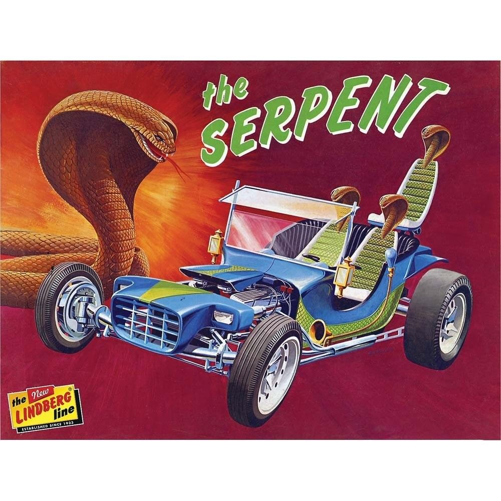 Lindberg 1/16 The Serpent Hot Rod Plastic Kit HL137