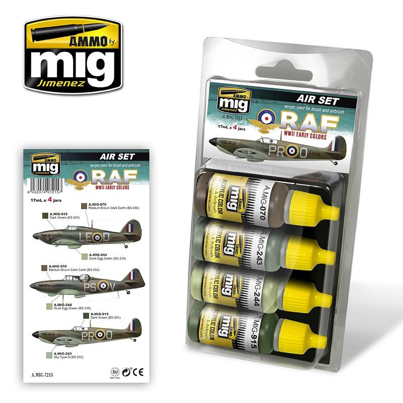 Ammo by Mig AMIG7215 RAF Early WWII  Colors Paint Set