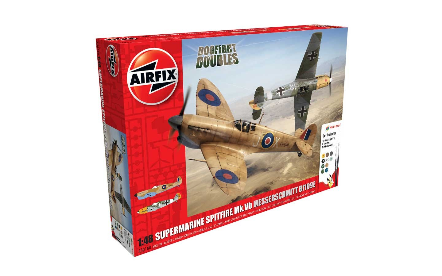Airfix 1/48 Dogfight Doubles BF109 vs Spitfire Mk Vb A50160