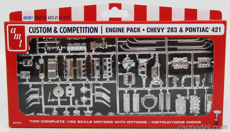 AMT 1/25 Engine Pack Chevy 283 & Pontiac 421 Parts PP011