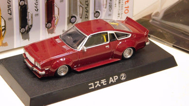 Aoshima 1/64 1975 Mazda Cosmo AP Grachan 10 Liberty Walk CD23C RED diecast (2)