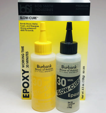 BSI 205 Slow Cure Epoxy 30 Minute Cure Small  4.5oz