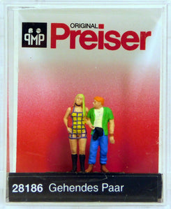Preiser 1/87 HO Walking Couple SCALE FIGURE 28186