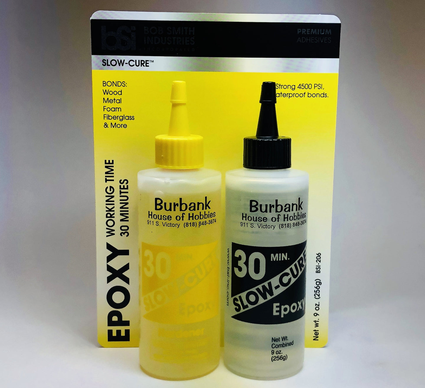 BSI 206 Slow Cure Epoxy 30 Minute Cure 9oz