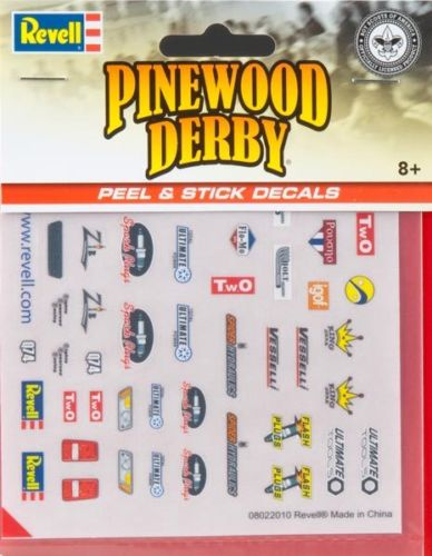Revell Pinecar Pinewood Derby Race Sponsors Peel & Stick Decals RMXY8678