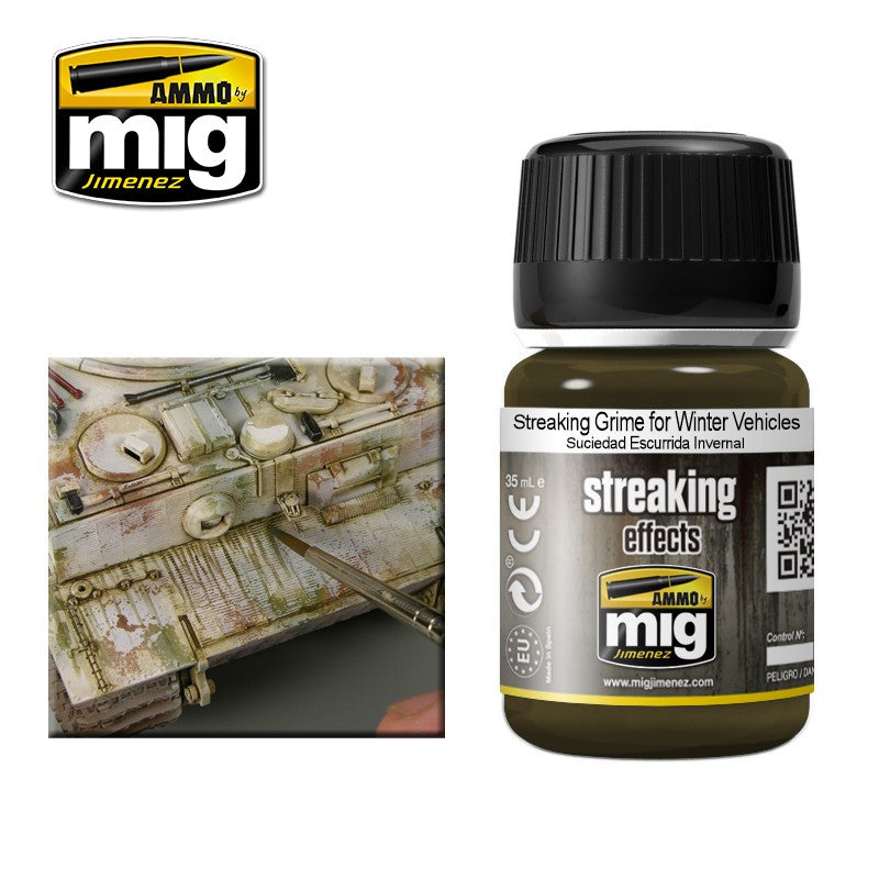 Ammo by Mig AMIG1205 Streaking Effects, Streaking Grime for Winter Vehicles