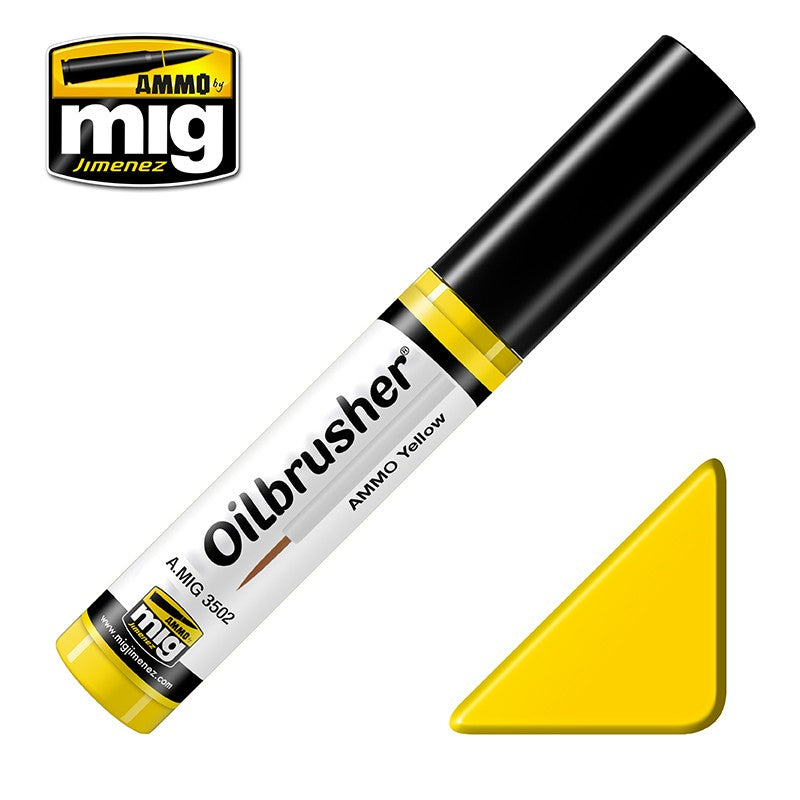 Ammo by Mig AMIG3502 Oilbrusher Ammo Yellow