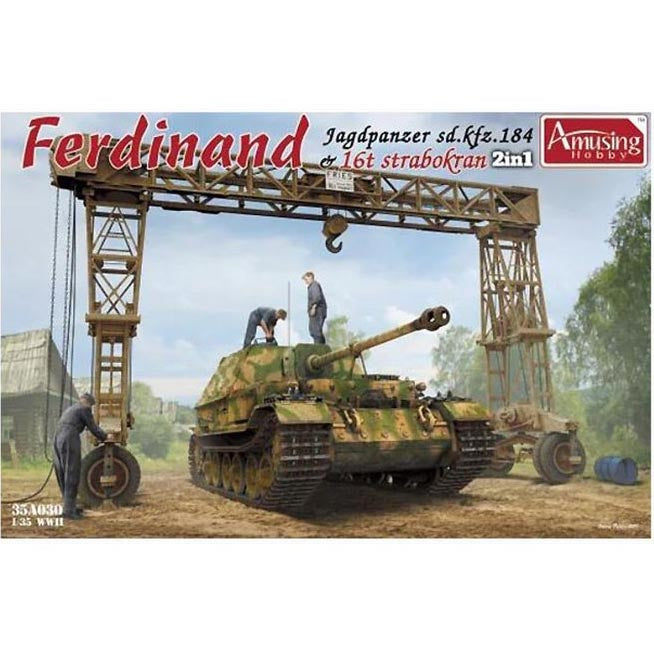 Amusing Hobby 1/35 German Elefant w/ Strabokran A35030 COMING SOON