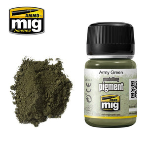 Ammo by Mig AMIG3019 Pigment, Army Green