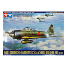 Load image into Gallery viewer, Tamiya 1/48 Japanese Mitsubishi A6M3 Zero 61108