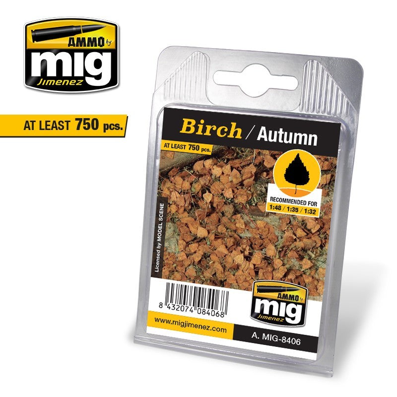 Ammo by Mig AMIG8406 Leaves Birch -Autumn