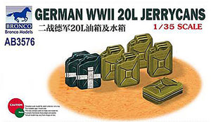 Bronco 1/35 German WWII 20L Jerrycans 3576