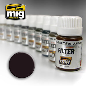 Ammo by Mig AMIG1506 Filter, Brown For Dark Green