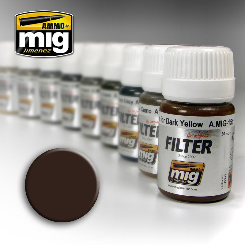 Ammo by Mig AMIG1511 Filter Brown For Dark Yellow