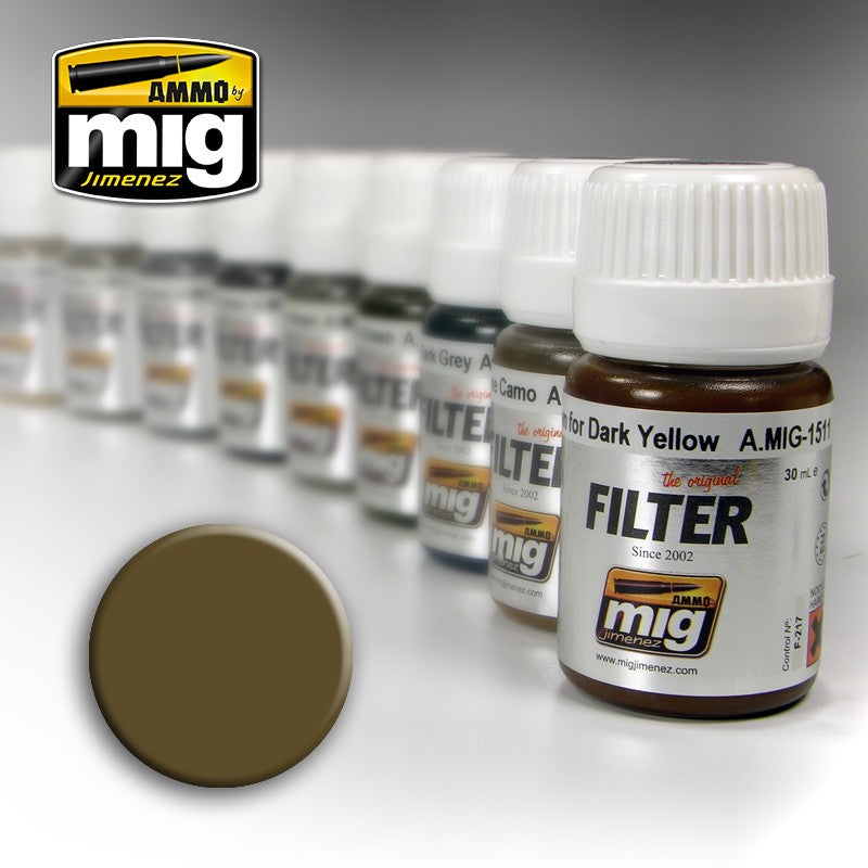 Ammo by Mig AMIG1504 Filter, Brown For Desert Yellow