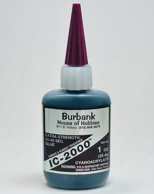 BSI 118 IC-2000 Rubberized Glue 1oz BSI118