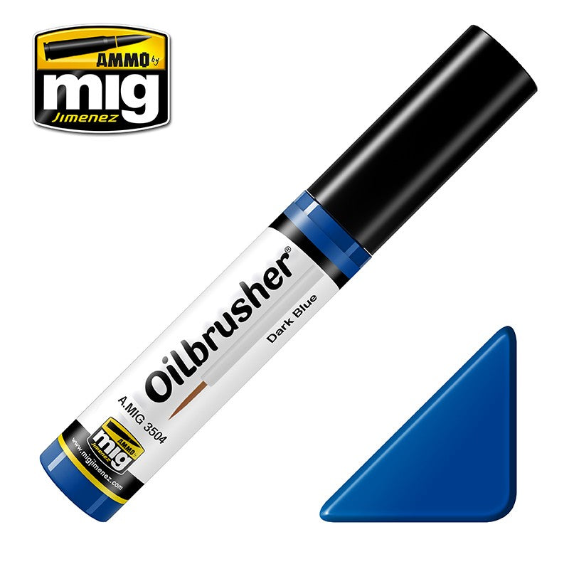 Ammo by Mig AMIG3504 Oilbrusher Dark Blue