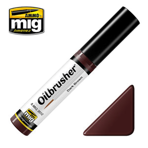 Ammo by Mig AMIG3512 Oilbrusher Dark Brown