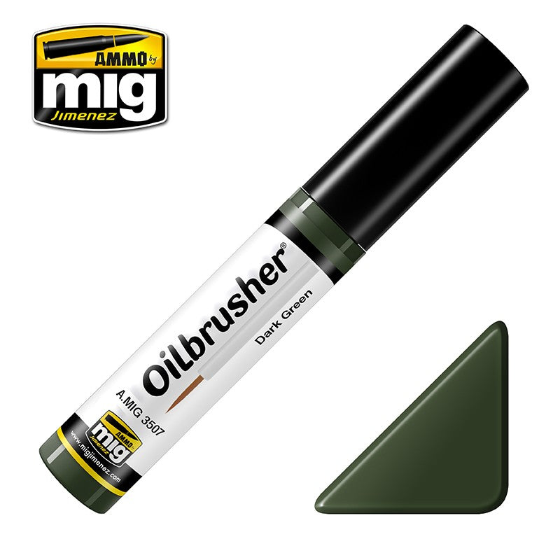 Ammo by Mig AMIG3507 Oilbrusher Dark Green