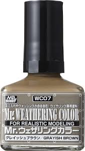 Mr. Hobby Mr Weathering Color Grayish Brown WC07