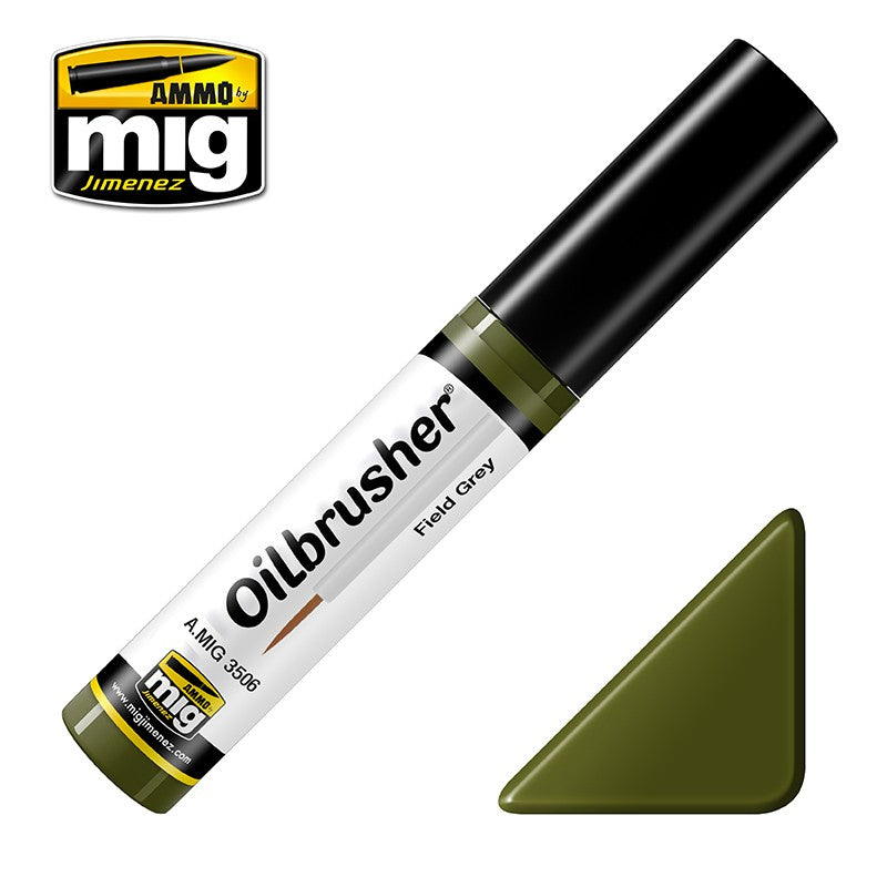 Ammo by Mig AMIG3506 Oilbrusher Field Green