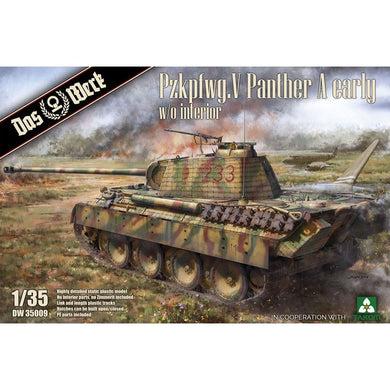 Das Werk 1/35 Pzkpfwg.V Panther A Early w/o Interior DW35009