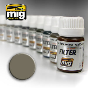 Ammo by Mig AMIG1505 Filter, Grey For Yellow Sand