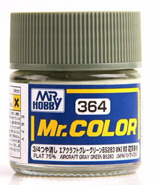 Mr. Hobby Mr. Color Lacquer C364 Flat Aircraft Grey Green C364 10ml