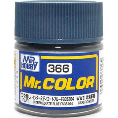 Mr. Hobby Mr. Color Lacquer C366 Flat Intermediate Blue C366 10ml