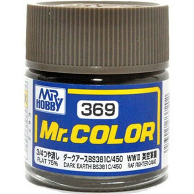 Mr. Hobby Mr. Color Lacquer C369 Flat 75% Dark Earth C369 10ml