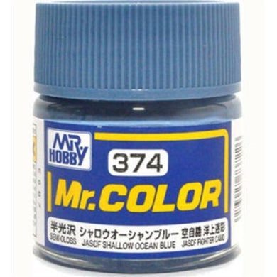 Mr. Hobby Mr. Color Lacquer C374 Shallow Ocean Blue C374 10ml