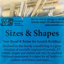 Load image into Gallery viewer, K&S 707 Sizes & Shapes Asst Metal Scratch Building Bag