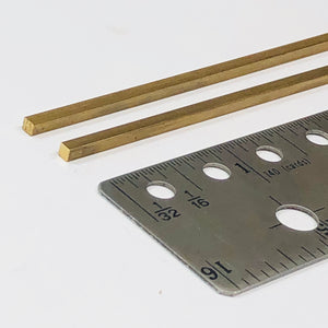 Albion SBW25 2.5mm x 2.5mm Square Brass Rod 2-PACK