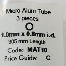 Load image into Gallery viewer, Albion MAT10 Aluminium Micro Tubing 1.0 mm x 0.8 mm i.d. 3-PACK