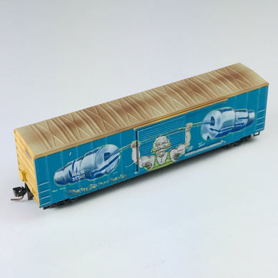 Micro-Trains MTL Z Graffiti Weathered Railbox 50' Box Car 51044220 BSB350